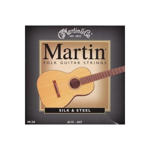 Jeu cordes Guitare Folk - Martin Silk & Steel M130