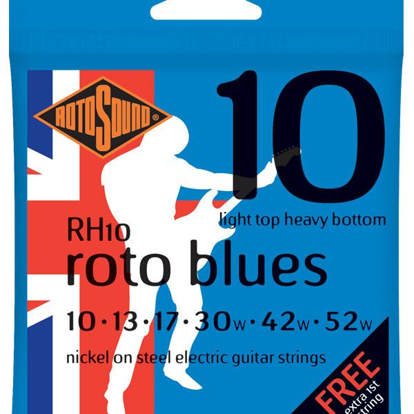 Jeu cordes Guitare Elec. - Rotosound Blues - L/H