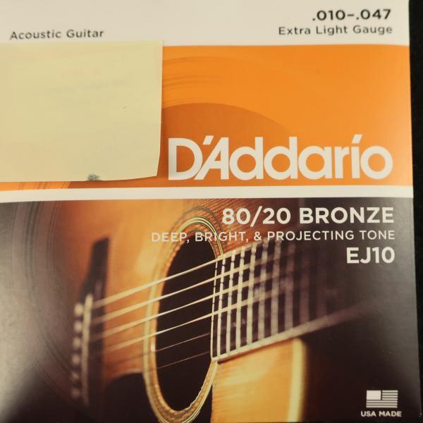 Jeu cordes Guitare Folk - D'Addario EJ10