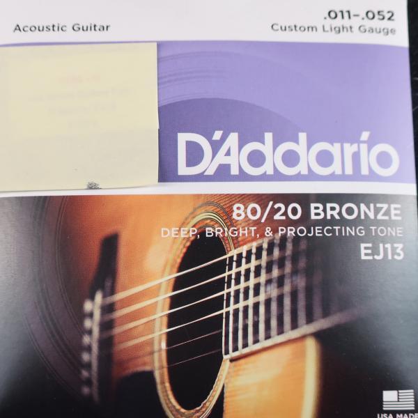 Jeu cordes Guitare Folk - D'Addario EJ13