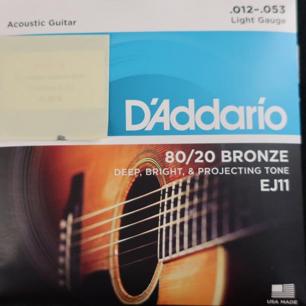 Jeu cordes Guitare Folk - D'Addario EJ11